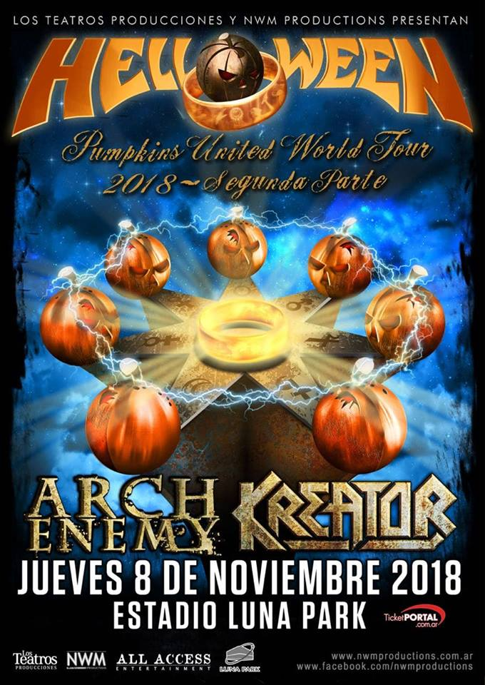HELLOWEEN KREATOR ARCH ENEMY